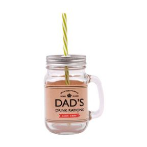 Dad's Army Dad's Drink Rations Mason Jar with Straw